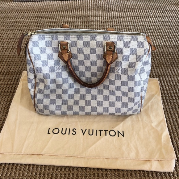 Louis Vuitton Handbags - Auth. Louis Vuitton Speedy 30 Damier Azur Canvas